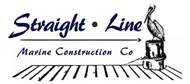 Straight Line Marine Construction Logo